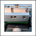 Melt belt with welding paddle